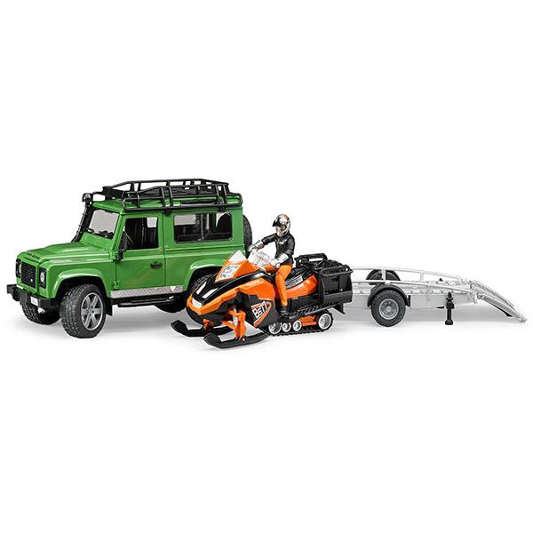 Džip land rover i prikolicom sa ski skuter i figurom-025946
