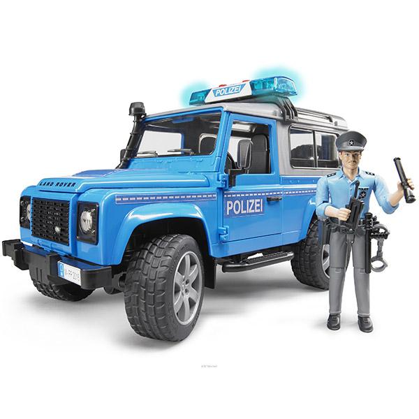 Džip Land rover policijski sa policajcem-025977