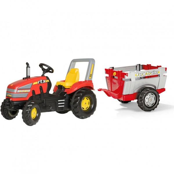 Traktor na pedale Rolly Toys Utovarivač sa Farm prikolicom 046836