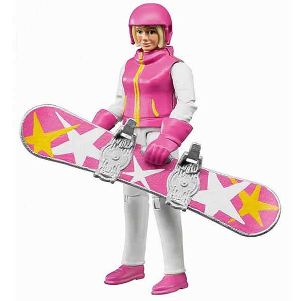 Figura žena na snowboardu Bruder-604202