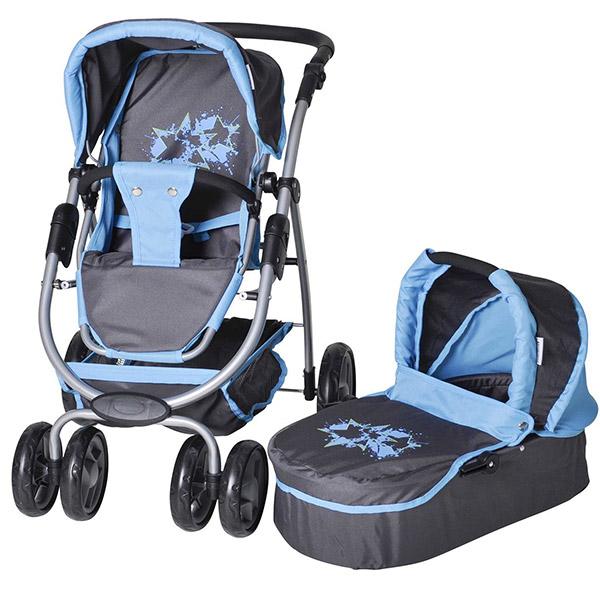 Kolica za lutke COCO graffiti Blue Knorr Toys-90716
